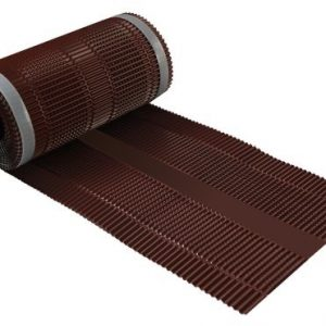 Aluminium-ruiterrol-hoekkeperband-ondervorst-nokband-bruin