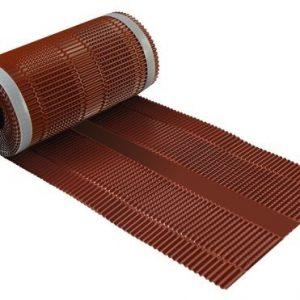 Aluminium-ruiterrol-hoekkeperband-ondervorst-nokband-rood