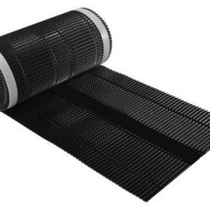 Aluminium-ruiterrol-hoekkeperband-ondervorst-nokband-zwart